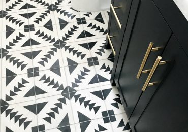 Cement Tile & Patterned Tile Floors for the Bathroom